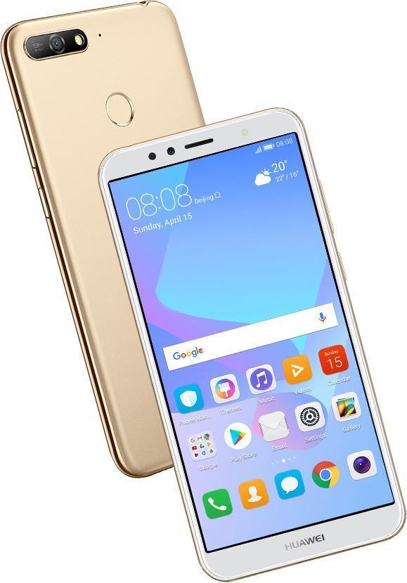 Klíčové vlastnosti mobilu Huawei Y6 Prime 2018 Dual SIM zlatý 2665e748511