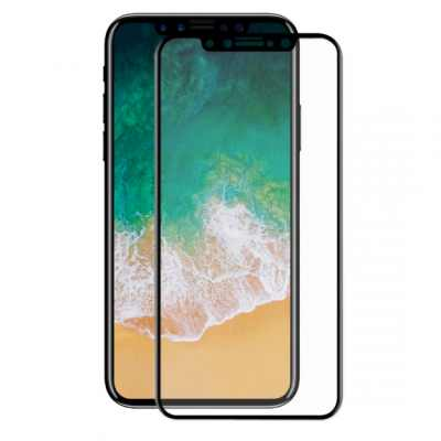 ENKAY super odolné 3D tvrzené sklo pro iPhone XS iPhone X - 0.2mm - černá