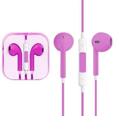 Sluchátka s mikrofonem a dálkovým ovládáním pro Apple zařízení - purpurová