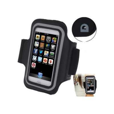 Sportovní pouzdro na ruku s průchodem na sluchátka pro iPhone 5