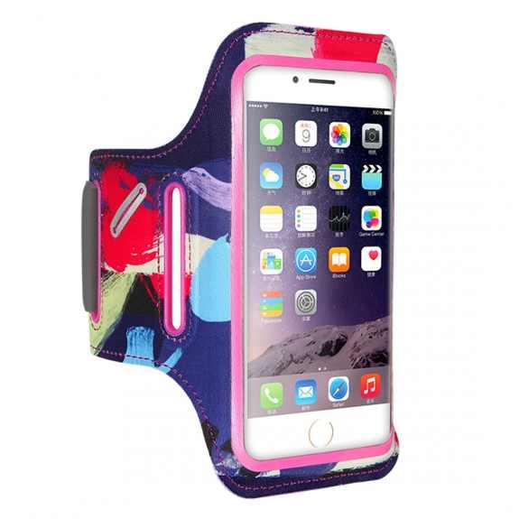 FLOVEME barevné sportovní pouzdro na ruku pro iPhone 6 / 6S / 7 / 8