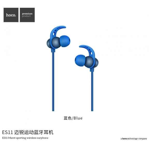 HOCO sportovní bezdrátová sluchátka s ovládáním pro Apple iPhone - modrá