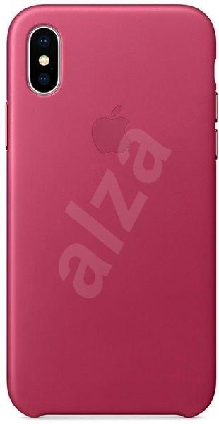 iPhone X Kožený kryt fuchsiový