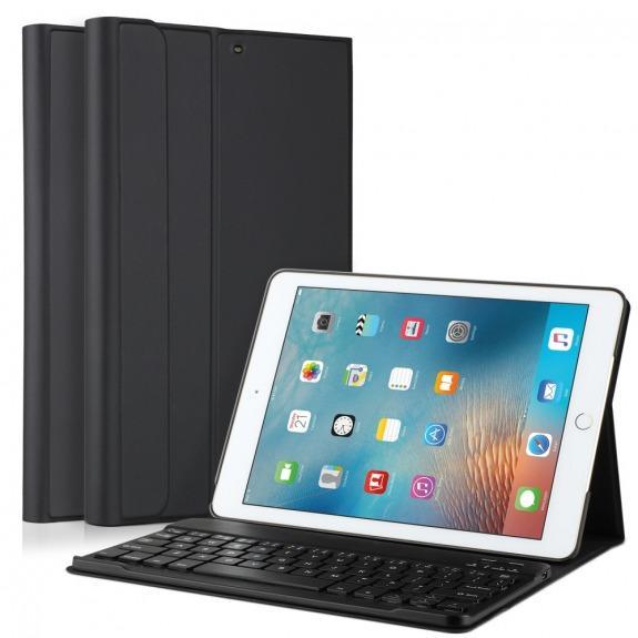 "Bezdrátová Bluetooth klávesnice a kryt pro Apple iPad 9.7"" (2017) / iPad Air / iPad 2018 - černá"