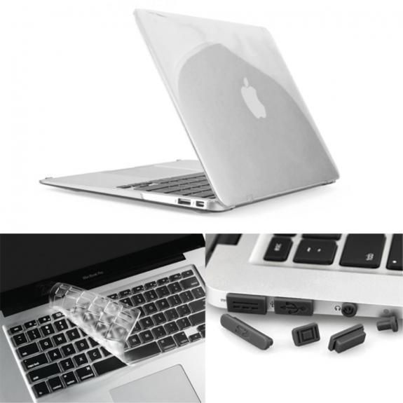 """ENKAY Kryt s ochranou kláves a záslepkami pro MacBook Air 13"""" (A1237, A1304, A1369)"""