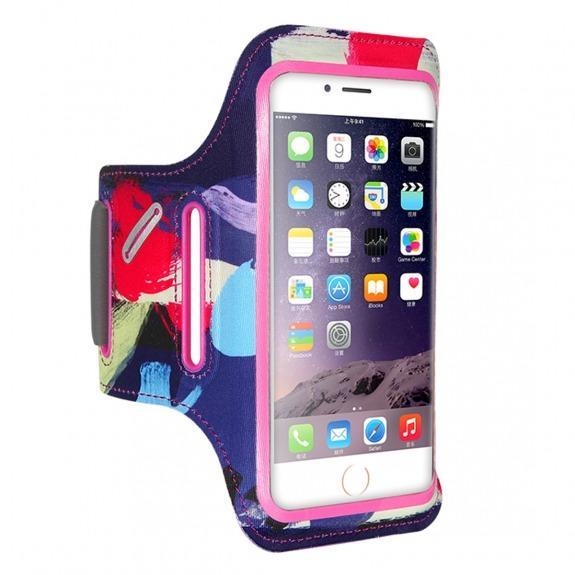 FLOVEME barevné sportovní pouzdro na ruku pro iPhone 6 Plus / 6S Plus / 7 Plus / 8 Plus