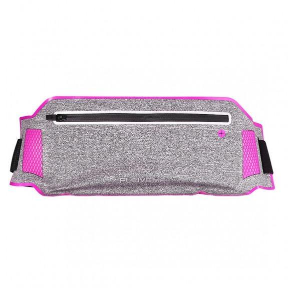 FLOVEME sportovní opasek s kapsou pro Apple iPhone - růžový