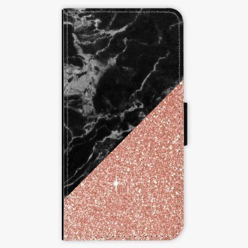 Flipové pouzdro iSaprio - Rose and Black Marble - Huawei P20 Pro