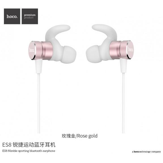 HOCO sportovní bezdrátová Bluetooth sluchátka pro Apple iPhone - bílo-zlatá