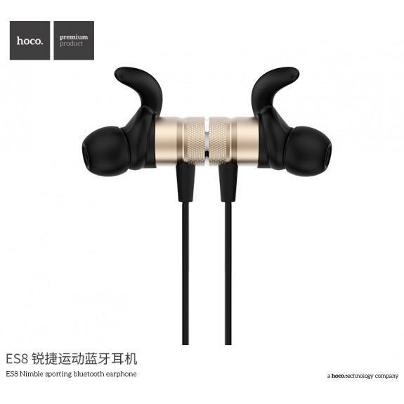 HOCO sportovní bezdrátová Bluetooth sluchátka pro Apple iPhone - zlatá