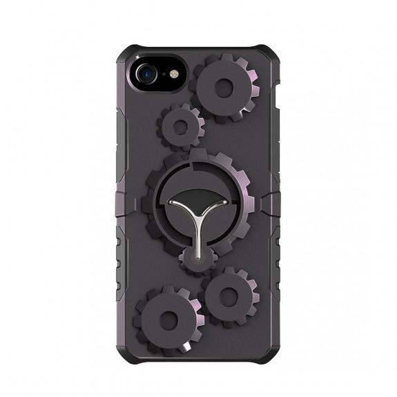 Ochranný outdoorový obal s odnímatelným páskem na ruku pro Apple iPhone 7 - 8 - černý