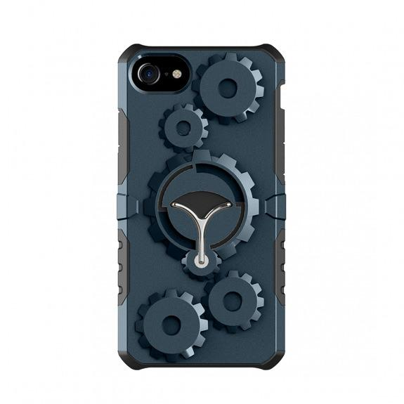 Ochranný outdoorový obal s odnímatelným páskem na ruku pro Apple iPhone 7 - 8 - tmavě modrý