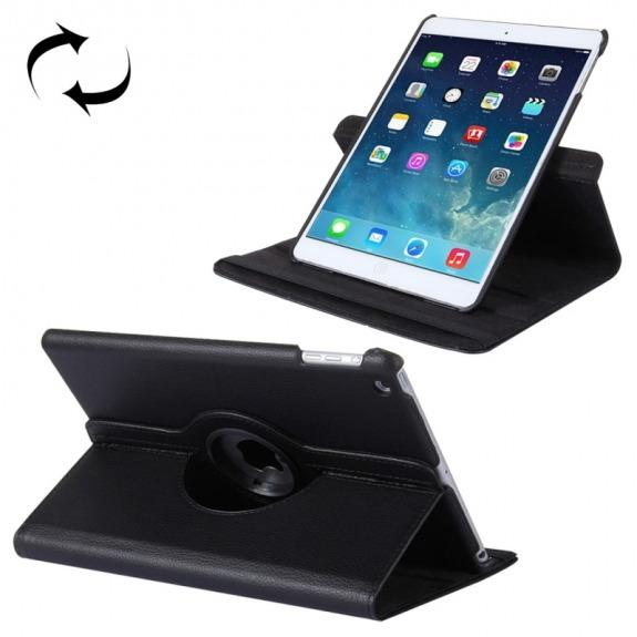 "Otočný 360° ochranný kryt a držák pro Apple iPad 9.7"" (2017) / iPad 2018 / iPad Air - černý"