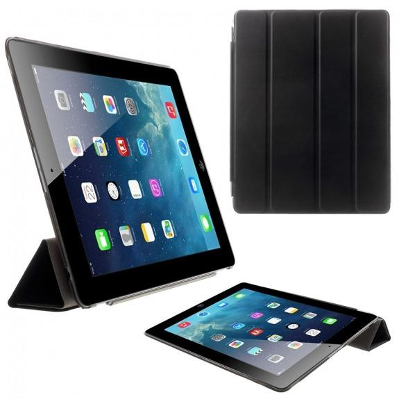 Pouzdro Smart Cover se stojánkem pro Apple iPad 2. / 3. / 4. gen. - černé