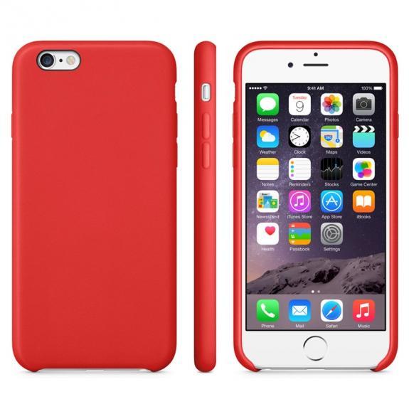 Protiskluzový matný obal pro Apple iPhone 6 / 6S - červený