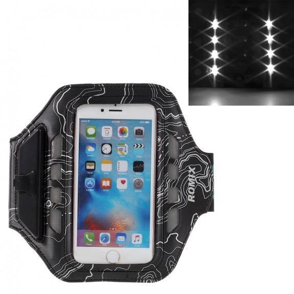 ROMIX pás na ruku s led světlem pro iPhone 6 6S 7 8 Plus