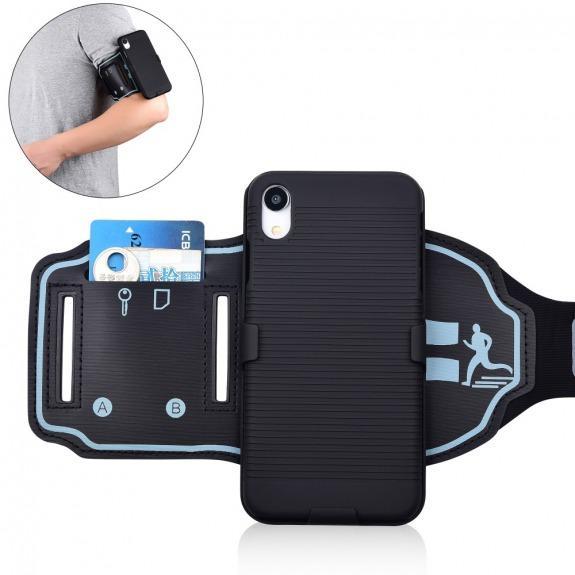 Sportovní pouzdro na ruku pro iPhone XR - černá