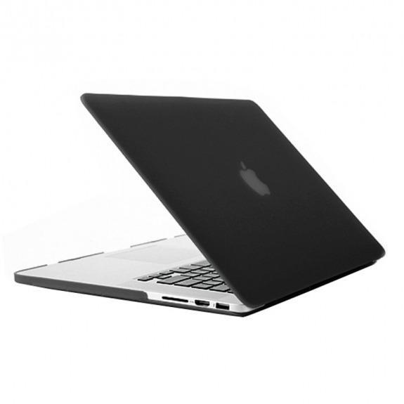 """Tvrzený ochranný plastový obal / kryt pro Apple Macbook Pro 13"""" (model A1425 , A1502) - matný černý"""