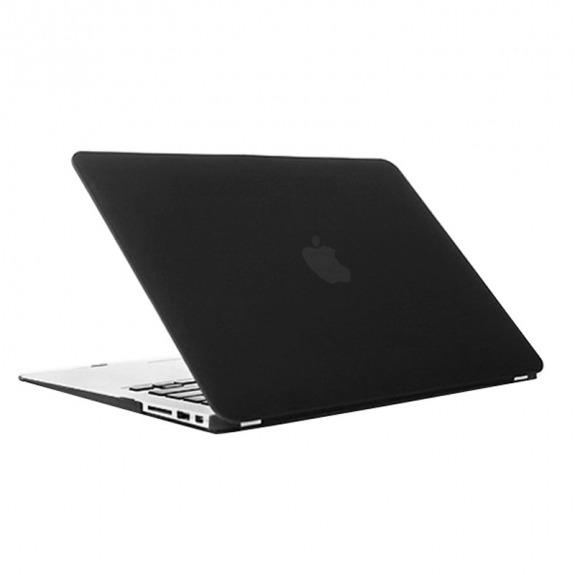 """Tvrzený ochranný plastový obal / kryt pro MacBook Air 13"""" (model A1369 / A1466) - černý"""