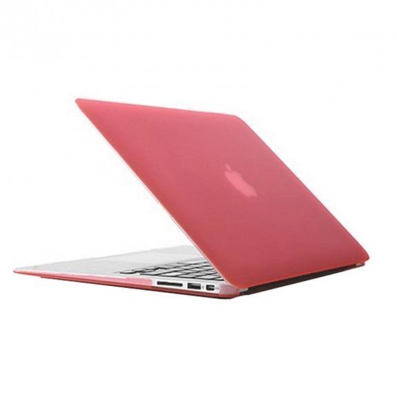"""Tvrzený ochranný plastový obal / kryt pro MacBook Air 13"""" (model A1369 / A1466) - růžový"""