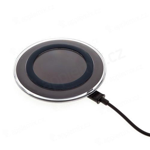 Bezdrátová nabíječka / nabíjecí podložka Qi Standard - černá