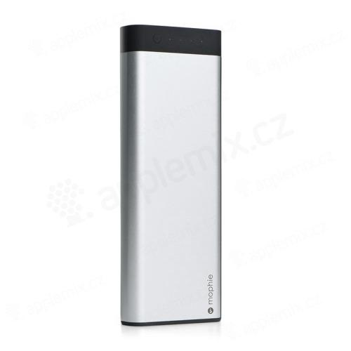 Externí baterie / power bank Mophie - MFi certifikovaná - 20000 mAh - kabel Lightning a Micro USB - bílá / černá