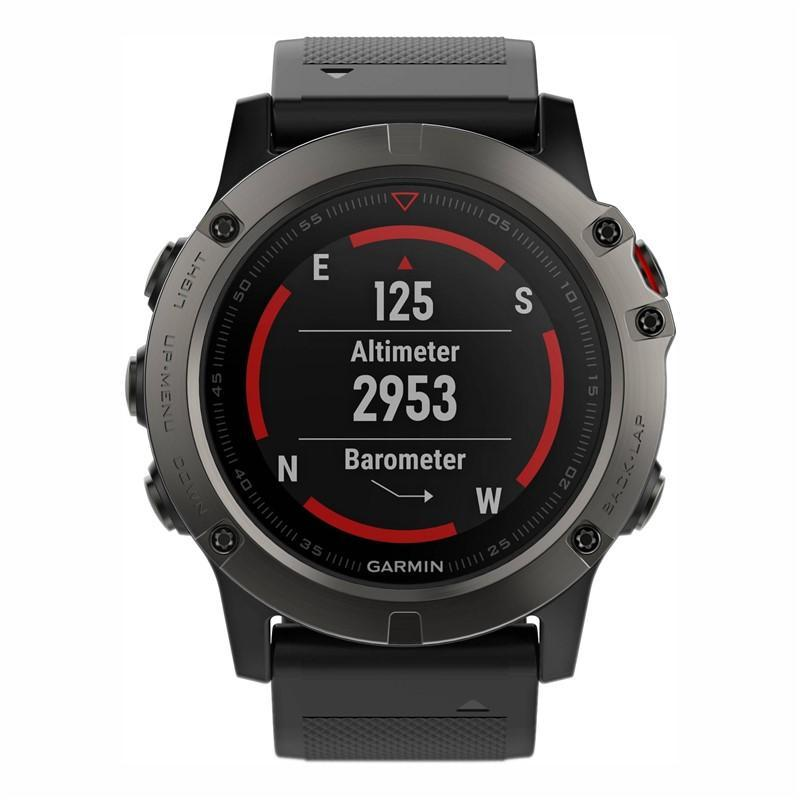 Garmin Fenix 5X Saphire Gray Optic černé