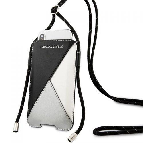 Karl Lagerfeld Book pro Apple iPhone 11/11 Pro černé/šedé (KLHCLWPSLBK)